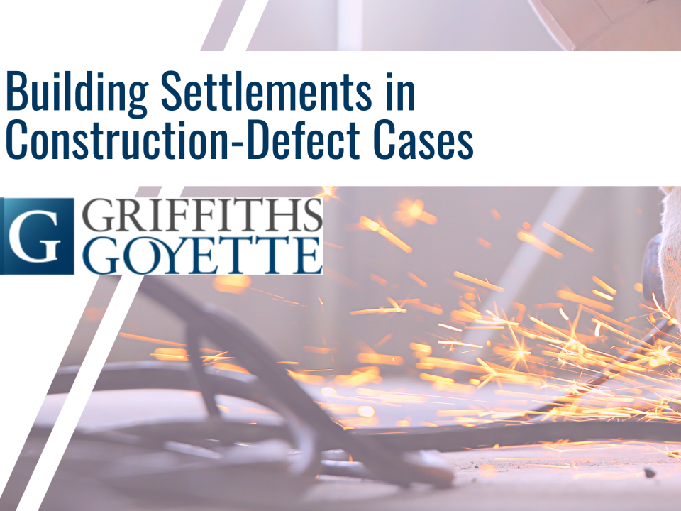Building Settlements in Construction-Defect Cases